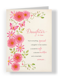 Daughter-in-law Floral 5x7 Folded Card
