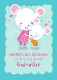 Cute Godmother Blessing 5x7 Folded Card