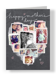 Mom's Day Chalkboard Photos 5x7 Folded Card