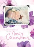 New Grandma Floral 5x7 Folded Card