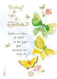 Easter Butterflies 5x7 Folded Card