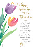 Parents Easter Tulips 5x7 Folded Card