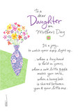 New Mom Floral for Daughter 5x7 Folded Card