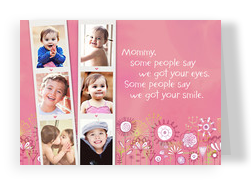 Photostrips for Mommy 7x5 Folded Card