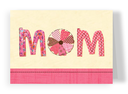 Stitched Pattern Mom 7x5 Folded Card