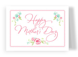 Watercolor Mother's Day Floral 7x5 Folded Card