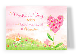 A Mother's Day Wish from Here to There 7x5 Folded Card