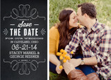 Save the Date Chalkboard Design with Photo 7x5 Flat Card