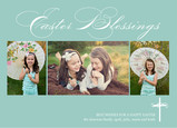 Easter Blessings with Photos 7x5 Flat Card