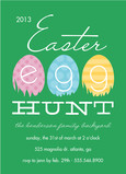 Colorful Easter Egg Hunt Invitation 5x7 Flat Card