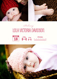 Photo Birth Announcement Infograph Girl 5x7 Flat Card