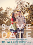 Save the Date Modern Formal Overlay 5x7 Flat Card
