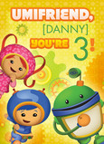 Umizoomi birthday card 5x7 Folded Card