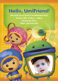 Umizoomi birthday party invitation 5x7 Flat Card