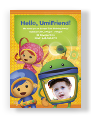 Umizoomi birthday party invitation 5x7 Flat Card