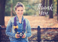 Handlettering Photo Grad Thank You 5.25x3.75 Folded Card