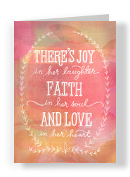 A Mother's Joy, Faith and Love 5x7 Folded Card