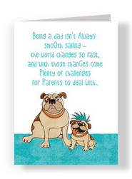 Father's Day Bulldogs 5x7 Folded Card