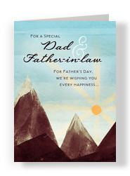 Dad & Father-in-law Mountains 5x7 Folded Card