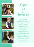 First Father's Day Photos 5x7 Folded Card