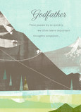 Father's Day Godfather Mountaintops 5x7 Folded Card