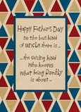 Father's Day Uncle Triangle Pattern 5x7 Folded Card