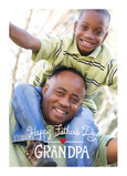 Happy Father's Day Grandpa Photo 5x7 Folded Card