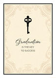 Key to Success 5x7 Folded Card