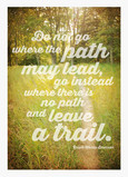 Where the Path May Lead Lettering Design 5x7 Folded Card