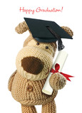Boofle Grad Diploma 5x7 Folded Card