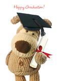 Boofle Grad Diploma 5x7 Folded Card