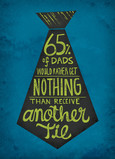 Nothing Better Than a Father's Day Tie 5x7 Folded Card