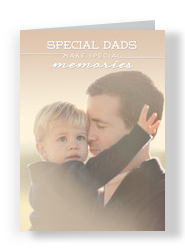 Special Dads Photo Card 5x7 Folded Card