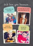 Photos and Speech Bubbles for Dad 5x7 Folded Card