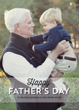 Father's Day Photo with Overlay Line Pattern 5x7 Folded Card