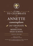 Modern Formal Grad Invitation 5x7 Flat Card