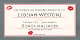 Romantic Father's Day Coupon 8x4 Flat Card