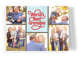 World's Best Grandpa Photos 7x5 Folded Card