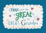 Great Grandpa Lettering 7x5 Folded Card