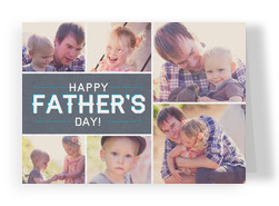 Modern Father's Day Photos 7x5 Folded Card