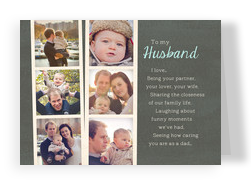 Husband Father's Day Photostrips 7x5 Folded Card