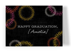 Graduation Fireworks Design 7x5 Folded Card