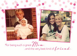 Then and Now Mom Photos 7x5 Folded Card