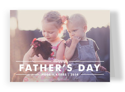 Photo Father's Day White Type 7x5 Folded Card