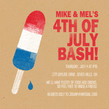 Rocket Pop 4th of July Invitation 4.75x4.75 Flat