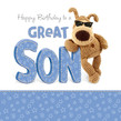 Boofle Shades - Son Birthday 4.75x4.75 Folded Card