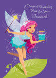 Magical Fairy Birthday Card 5x7 Folded Card