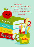 Back to School - Books and Apple 5x7 Folded Card