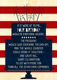National Holiday Birthday 5x7 Folded Card