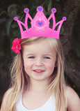 Princess Crown Photo Birthday Card 5x7 Folded Card